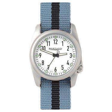 Ventara Sport Watch in Gray and Black Stripe with White Dial by Bertucci - FINAL SALE