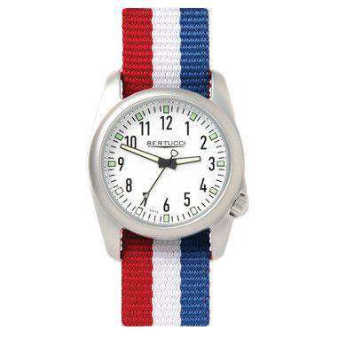 Ventara Sport Watch in USA Stripe with White Dial by Bertucci - FINAL SALE