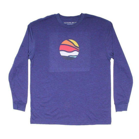 Waters Bluff Bluff Horizon Long Sleeve Tee in Navy