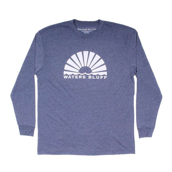 Waters Bluff Horizon Sunrise Long Sleeve Tee in Navy