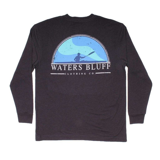Waters Bluff Paddler Long Sleeve Tee in Charcoal