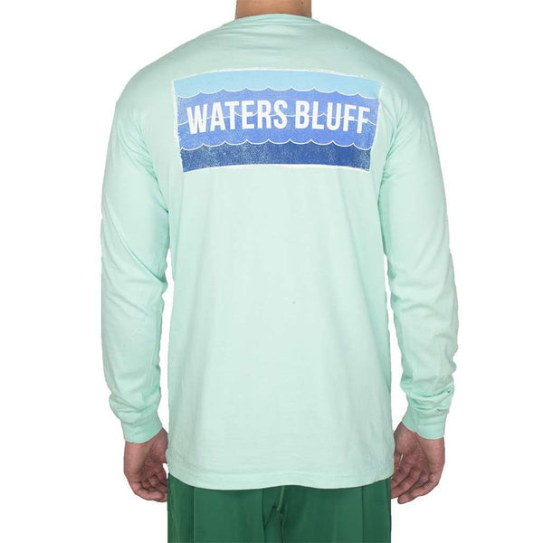 Wave Long Sleeve Tee Shirt in Island Reef by Waters Bluff  - 1