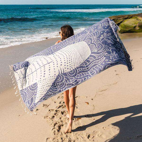 Sand Cloud Whale Shark Towel by Sand Cloud
