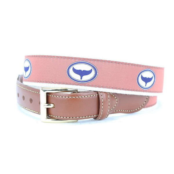 Whale Tale Leather Tab Belt in Off Purple by Country Club Prep  - 1