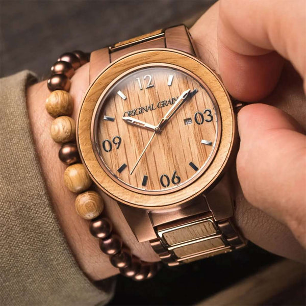 Whiskey Barrel Watch by Original Grain
