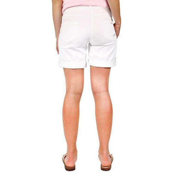 Marie II Shorts in White by Saint James  - 2