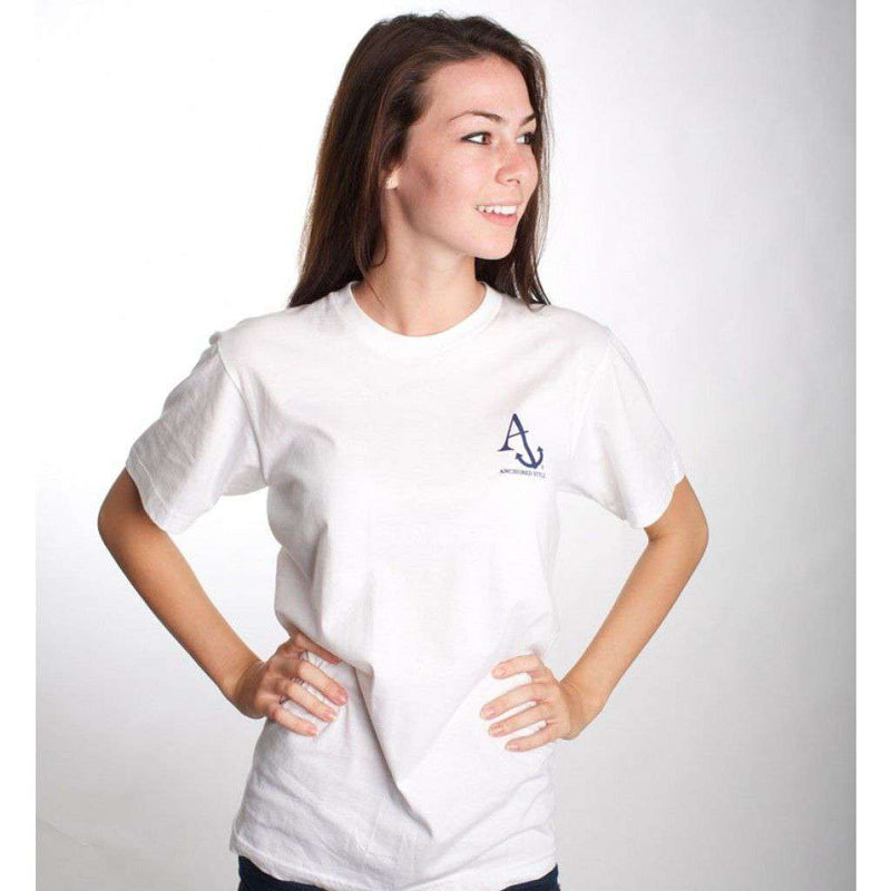 Boat Shoes, Bow Ties and America Tee Shirt in White by Anchored Style - FINAL SALE