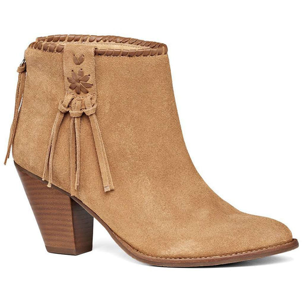 Women's Boots - Greer Suede Bootie In Oak By Jack Rogers - FINAL SALE