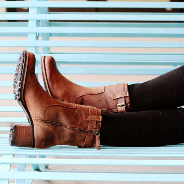 Women's Madison Boot in Dark Brown by Trask