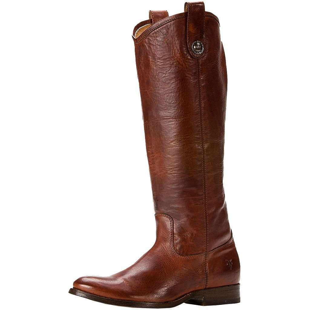 f40c66ddf0f Melissa Button Boot in Cognac by The Frye Company - FINAL SALE – Country  Club Prep