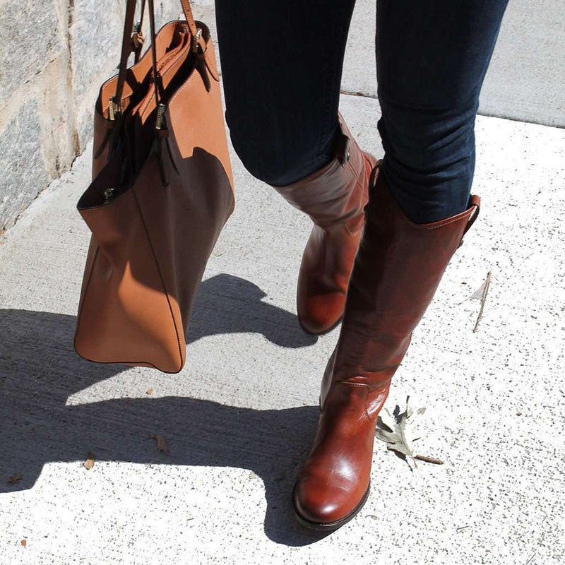 1f794314dc2 Women s Boots - Melissa Button Boot In Cognac By The Frye Company - FINAL  SALE