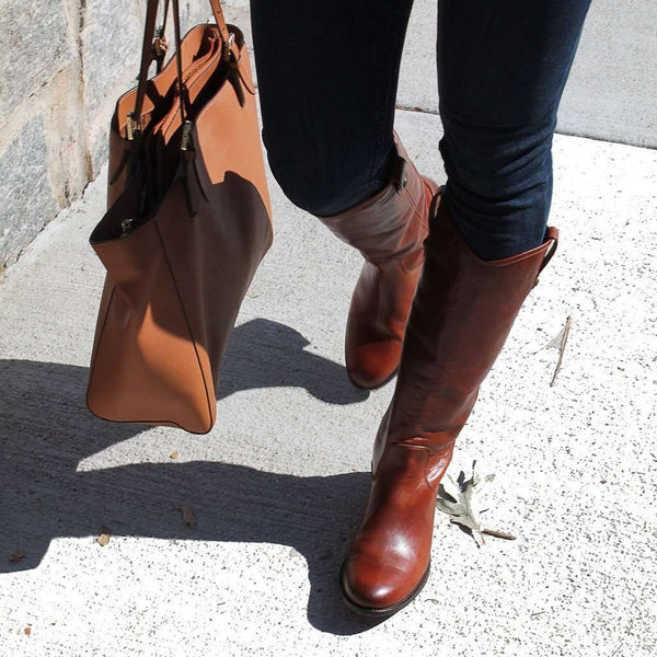 Melissa Button Boot in Cognac by The