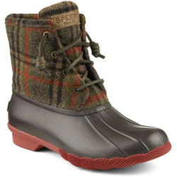 49326dad1ba Women's Saltwater Duck Boot in Brown Plaid by Sperry - FINAL SALE