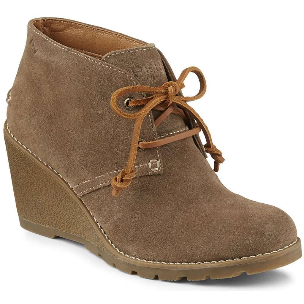Women's Boots - Women's Stella Prow Bootie In Taupe By Sperry