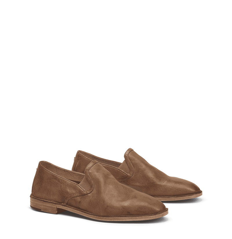 Women's Flats - Ali Loafer In Camel By Trask