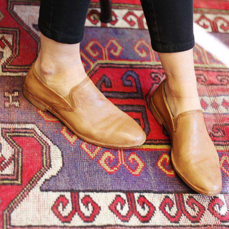 Women's Ali Loafer in Camel by Trask