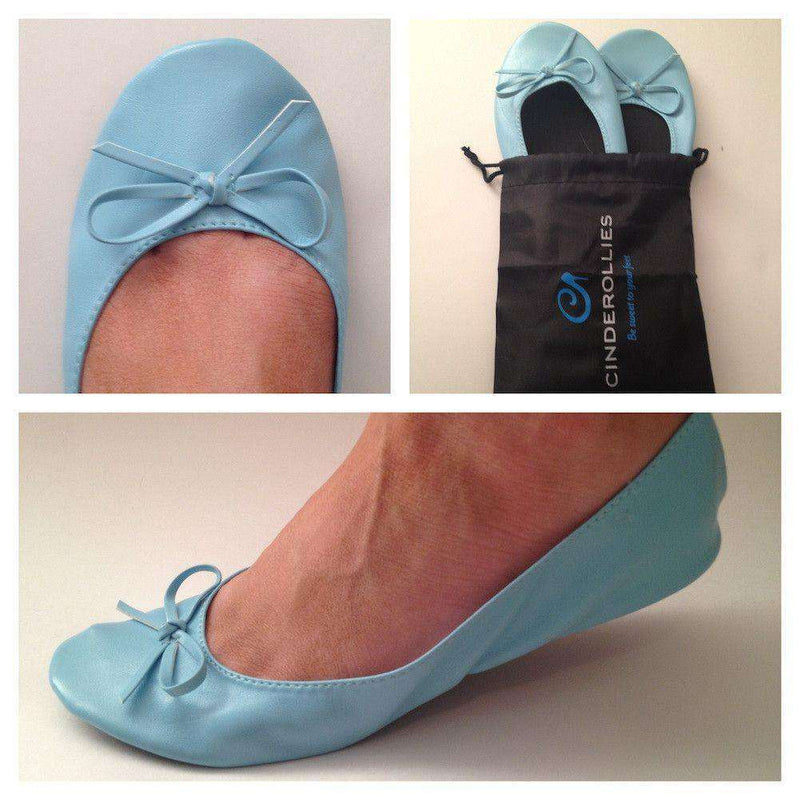 Women's Flats - Ballet Flat In Baby Blue By Cinderollies - FINAL SALE