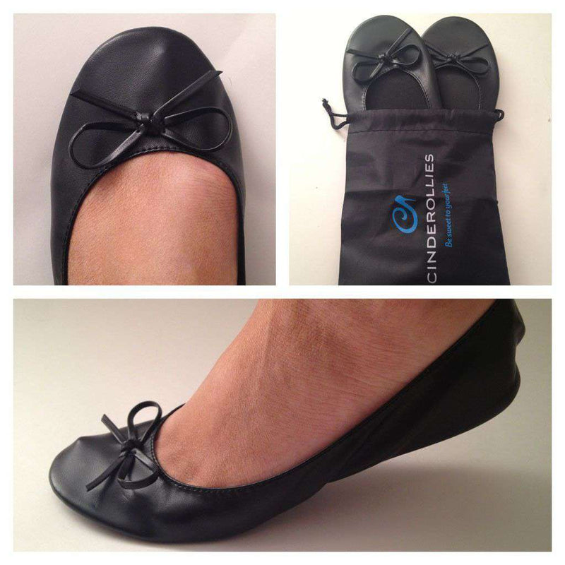 Women's Flats - Ballet Flat In Black By Cinderollies - FINAL SALE