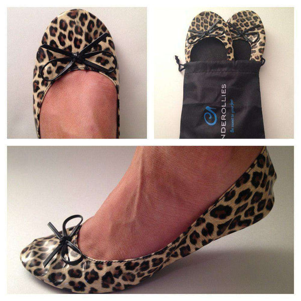 Ballet Flat in Leopard Print by Cinderollies - FINAL SALE