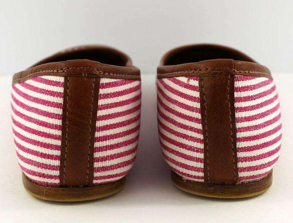 Ballet Flat in Pink Stripes by Eliza B. - FINAL SALE