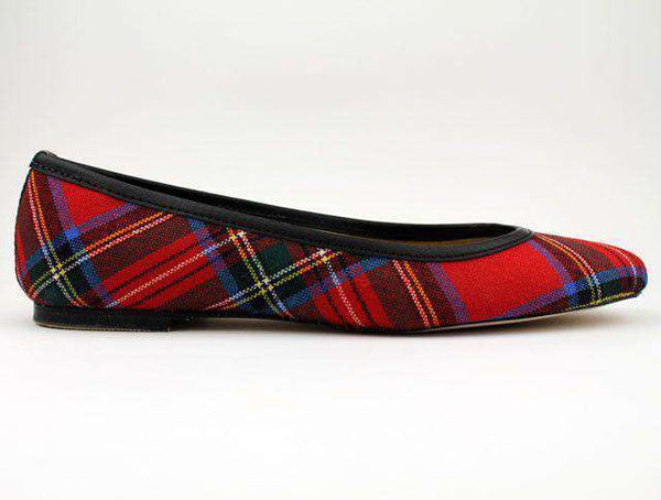 Women's Flats - Ballet Flat In Royal Stewart Tartan Plaid By Eliza B.-6.5