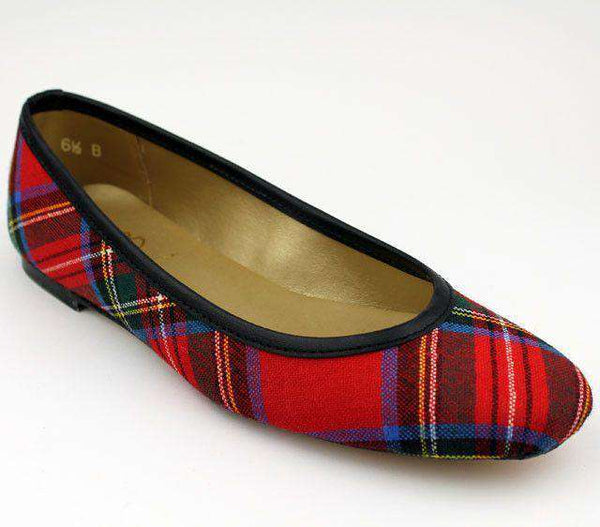 Ballet Flat in Royal Stewart Tartan Plaid by Eliza B.-6.5
