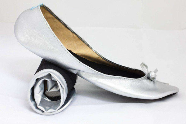 Ballet Flat in Silver by Cinderollies - FINAL SALE