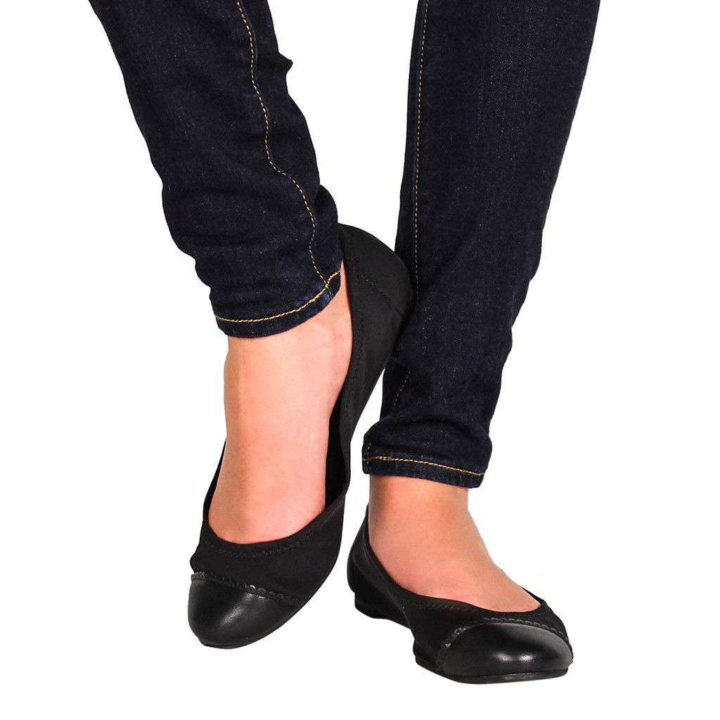Women's Flats - Bree Stretch Flat In Black By Jack Rogers - FINAL SALE