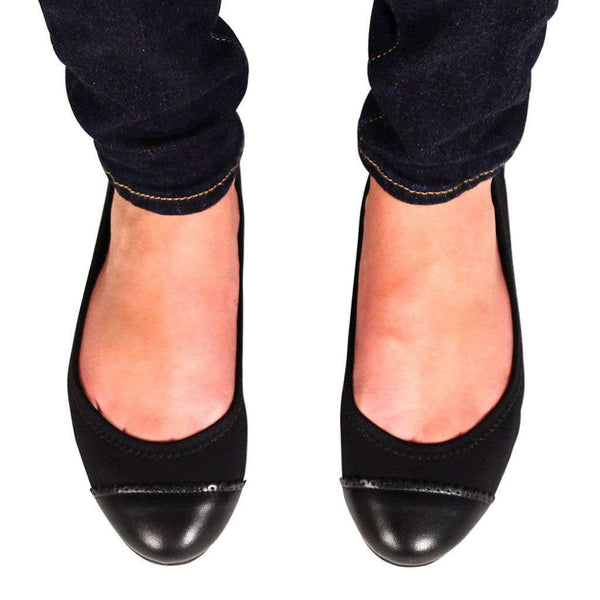 Bree Stretch Flat in Black by Jack Rogers - FINAL SALE