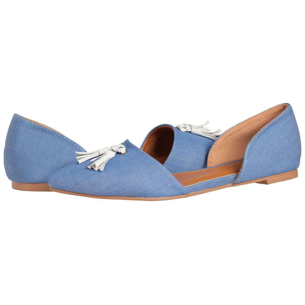 Caroline Flat in Cornflower Blue by Southern Proper - FINAL SALE