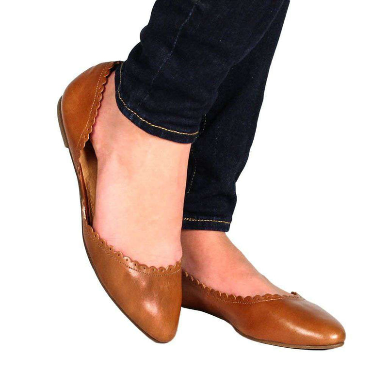 Women's Flats - Chantel Flat In Oak By Jack Rogers - FINAL SALE