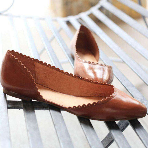 Chantel Flat in Oak by Jack Rogers - FINAL SALE