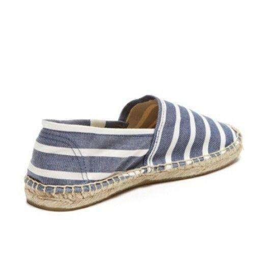 Classic Stripe Espadrille in Navy and White by Soludos - FINAL SALE