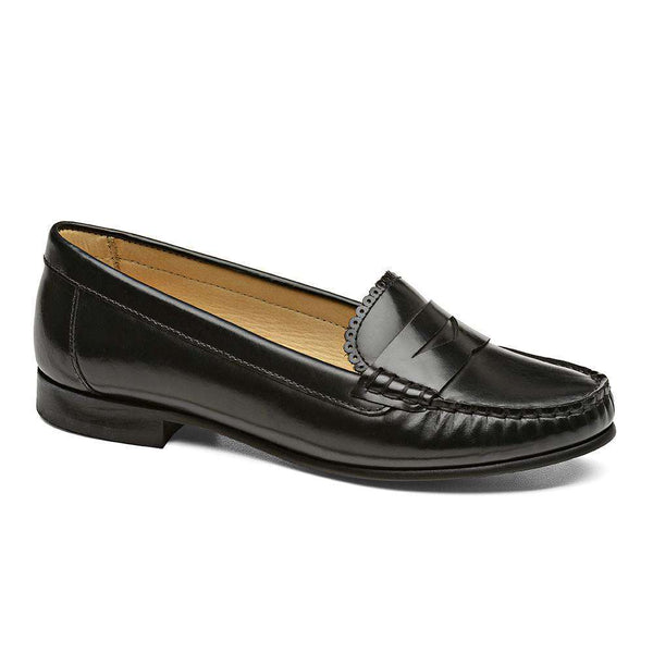 Women's Flats - Quinn Penny Loafer In Black By Jack Rogers - FINAL SALE