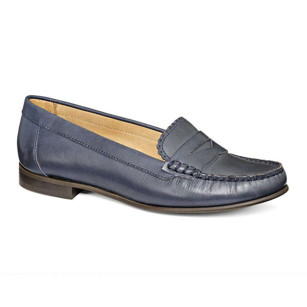 Women's Flats - Quinn Penny Loafer In Midnight By Jack Rogers - FINAL SALE