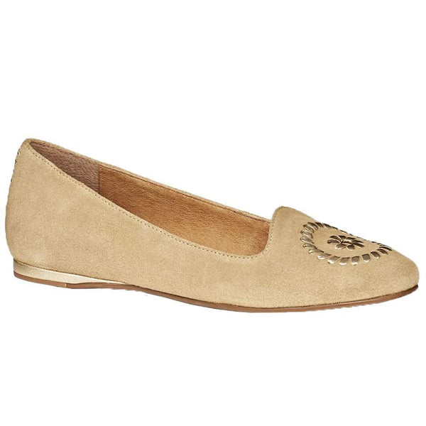 Women's Flats - Rebecca Suede Flat In Sand By Jack Rogers