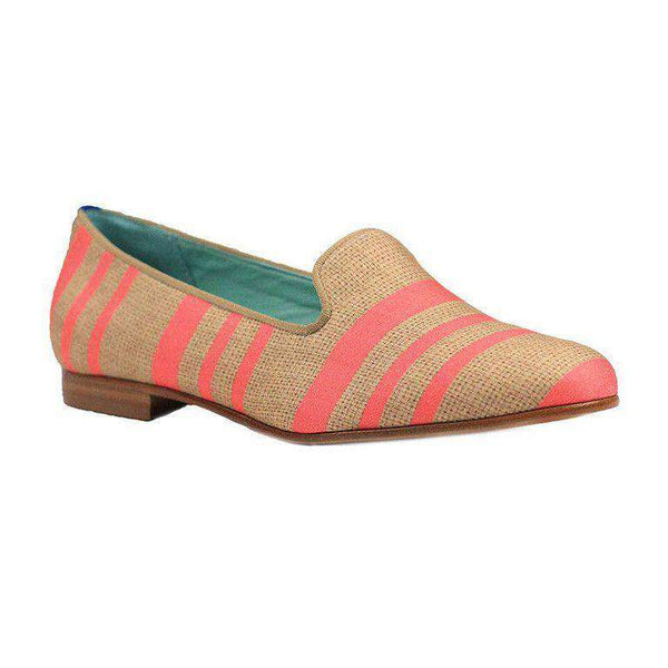 Women's Flats - Striped Neon Loafer By Blue Bird Shoes - FINAL SALE