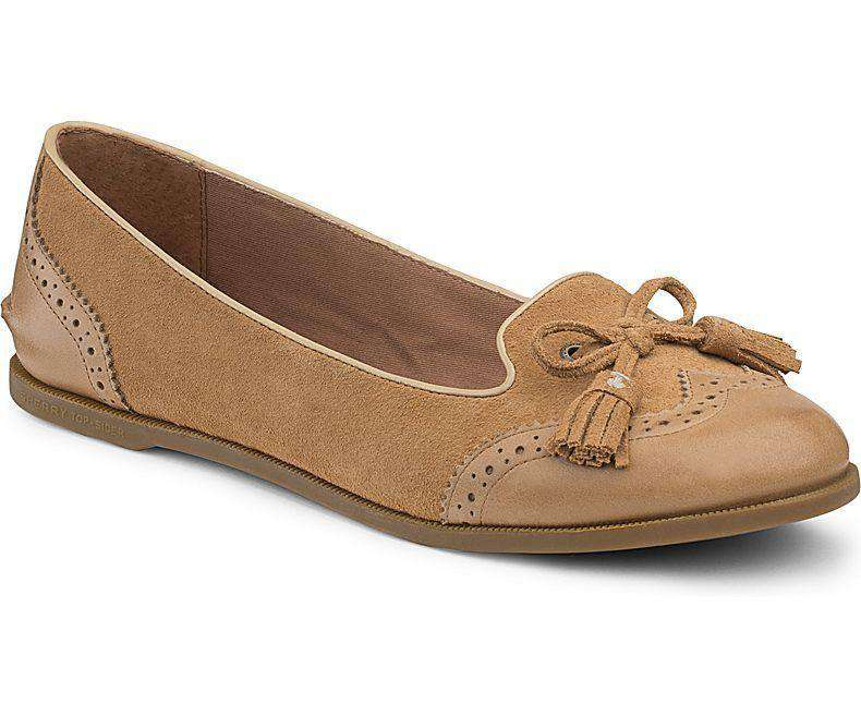 Women's Flats - Women's Harper Smoking Slipper In Cognac By Sperry