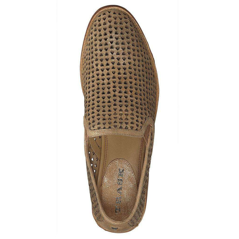 Women's Ali Perf in Gold Italian Metallic Suede by Trask