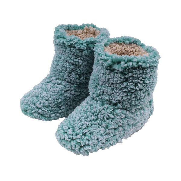 Women's Footwear - Sherpa Fleece Booties In Island Reef And Oatmeal By Live Oak