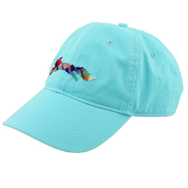"Women's Hats/Visors - Country Club Prep ""Longshanks"" Needlepoint Hat In Glacier Blue By Smathers & Branson"