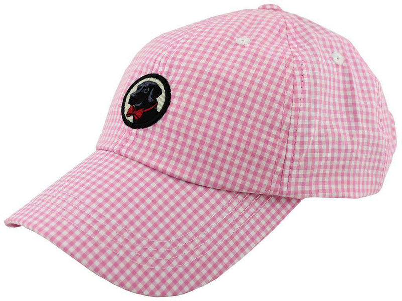 Women's Hats/Visors - Frat Hat In Pink Gingham By Southern Proper