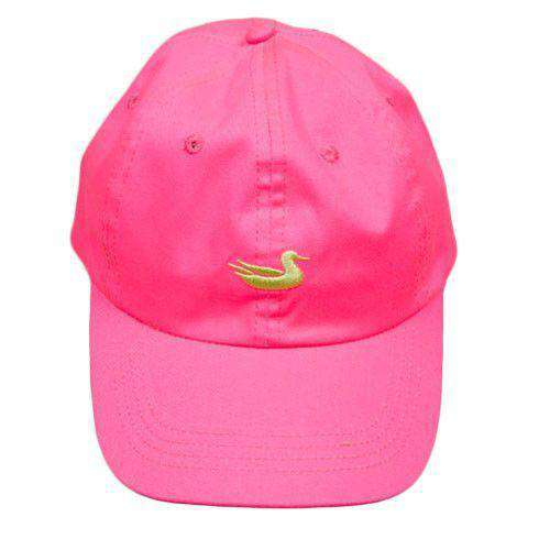 Women's Hats/Visors - Hat In Neon Pink With Lime Duck By Southern Marsh