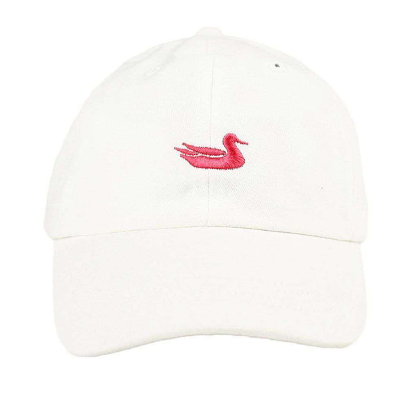 Women's Hats/Visors - Hat In White With Pink Duck By Southern Marsh