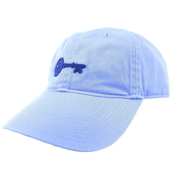 Women's Hats/Visors - Kappa Kappa Gamma Needlepoint Hat In Light Blue By Smathers & Branson