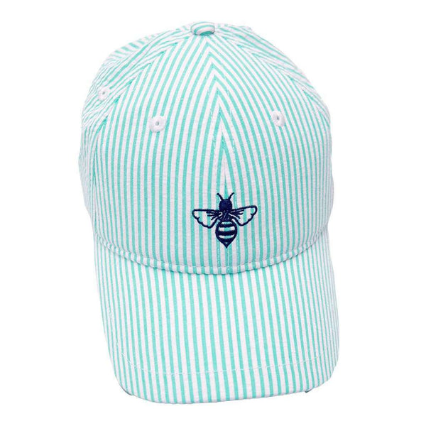 Women's Hats/Visors - Logo Hat In Mint Seersucker By Lily Grace