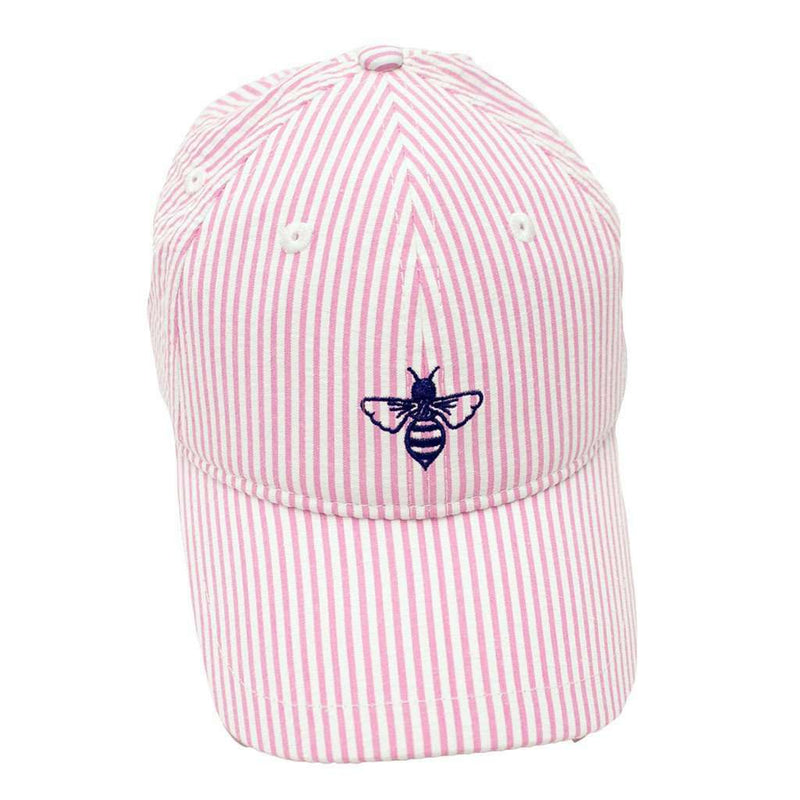 Women's Hats/Visors - Logo Hat In Pink Seersucker By Lily Grace