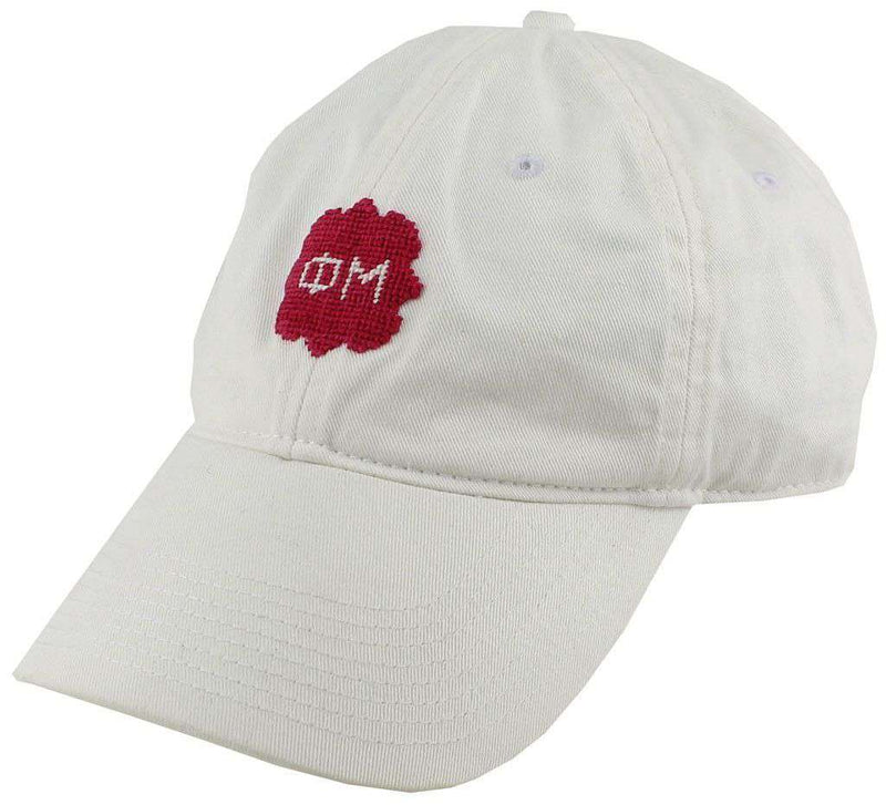 Women's Hats/Visors - Phi Mu Needlepoint Hat In White By Smathers & Branson