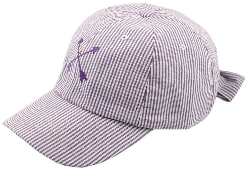 Women's Hats/Visors - Pointe Prep Cap In Lavender Seersucker By Lauren James - FINAL SALE