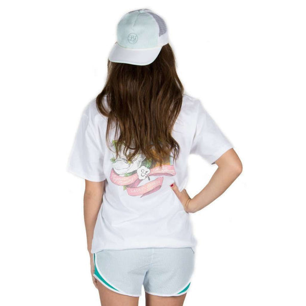 Women's Hats/Visors - Seersucker Snapback Hat In Mint By Lauren James - FINAL SALE